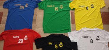 Camisetas técnicas personalizadas  en varios colores