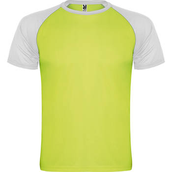 camiseta tecnica roly indianapolis amarillo-blanco