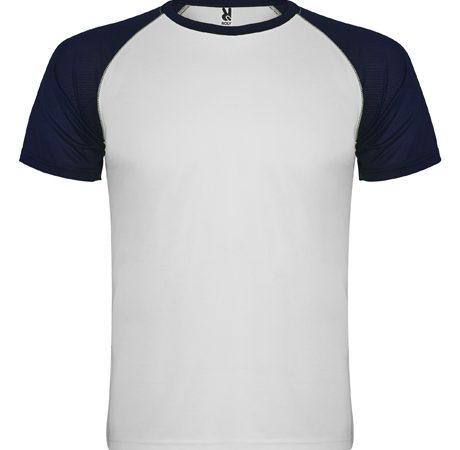 camiseta tecnica roly indianapolis blanco-marino