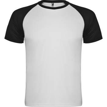 camiseta tecnica roly indianapolis blanco-negro