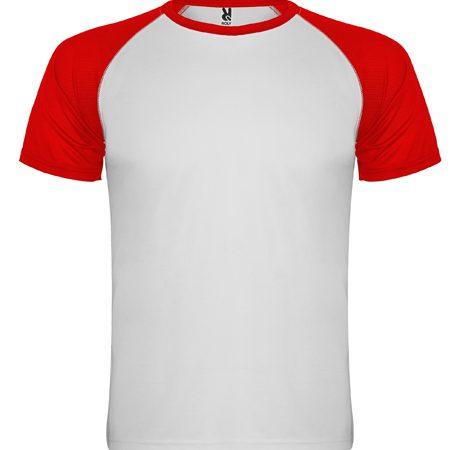 camiseta tecnica roly indianapolis blanco-rojo