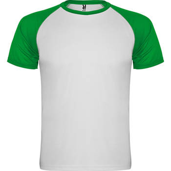 camiseta tecnica roly indianapolis blanco-verde