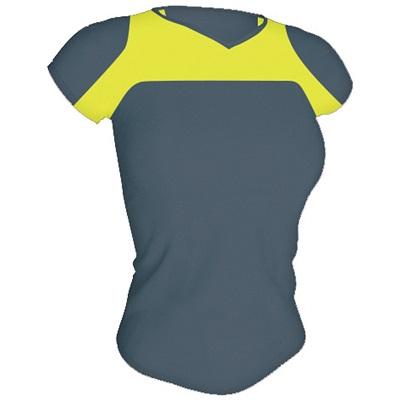 camiseta-tecnica-armour-mujer-gris-amarillo