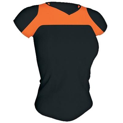 camiseta-tecnica-armour-mujer-negro-naranja