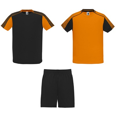 equipacion roly modelo juve naranja y negro