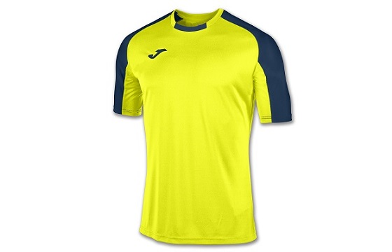 camiseta tecnica joma essential amarillo fluor marino