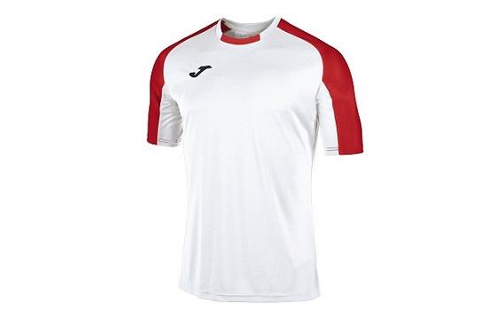 camiseta tecnica joma essential blanco rojo