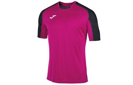 camiseta tecnica joma essential magenta negro