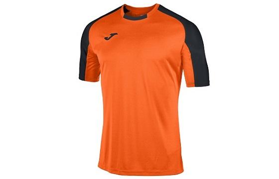 camiseta tecnica joma essential naranja negro